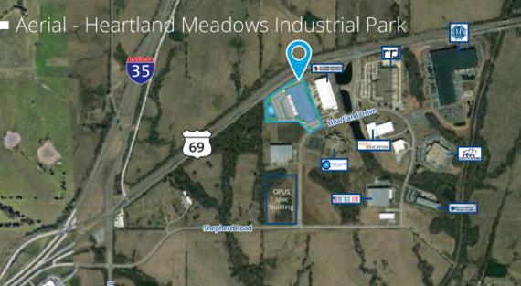 Heartland Cold Storage Map Image