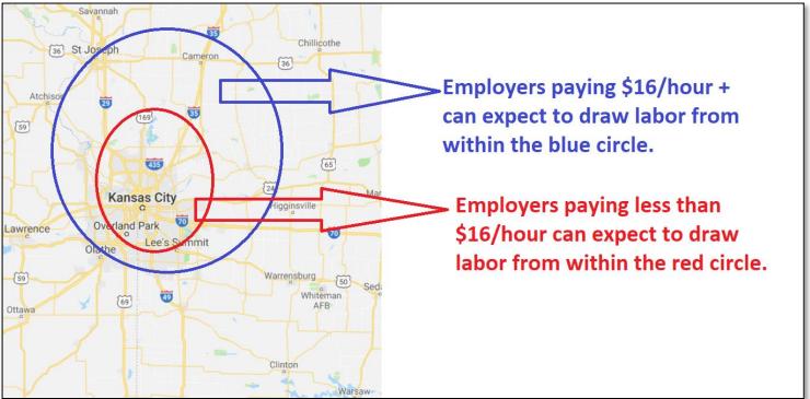 wage per area 2021